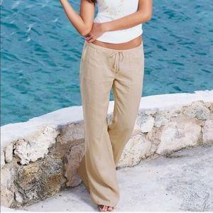 VENUS Linen Drawstring Pants